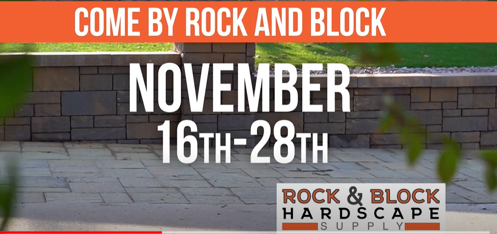 November Specials and Discounts at Rock and Block Hardscape Supply