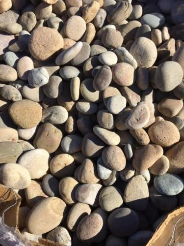 "Tan Mexican Beach Pebbles(1/2""-1"", 1""-2"", 2""-3"", 3""-5"", 6""-9"")"